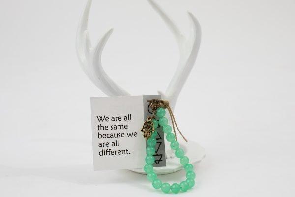 One Energy Single Wrap Bracelet - Green